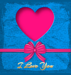 valentines day colored background vector image