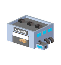 warehouse construction isometric isolated icon vector image