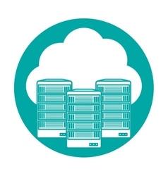 Web hosting server banner icon vector