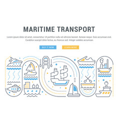 Website banner and landing page maritime vector