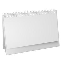 white blank paper desk spiral calendar vertical vector image