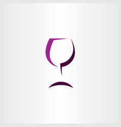 Wine glass stylized symbol logo sign icon vector