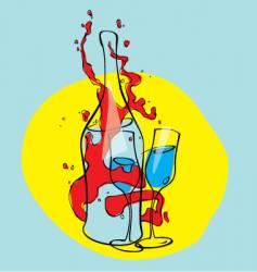wine illustration vector image