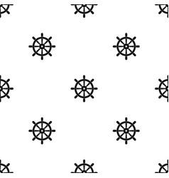 wooden ship wheel pattern seamless black vector image vector image