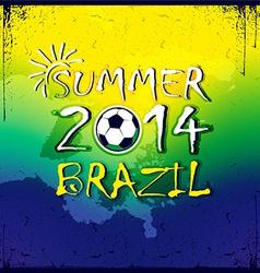 Brazilian football poster Summer 2014 vector image
