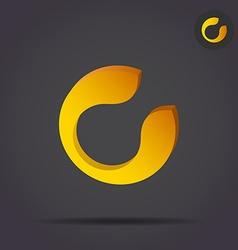 C letter circular icon vector image
