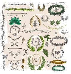 decorative floral vintage vector image vector image