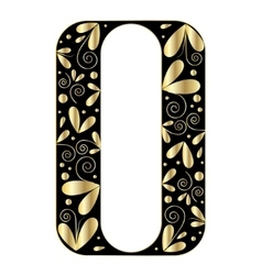 Decorative letter shape Font type O vector image