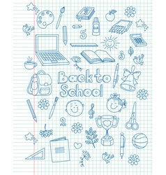 Exercise book return to school vector image vector image