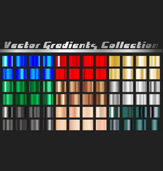gradient square set vector image