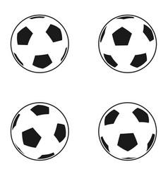 icon set of ball for european football soccer vector image vector image