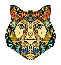 Tiger head sketch vector image vector image