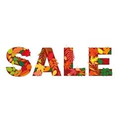 Autumn leaf inscription sale Isolated design vector image vector image