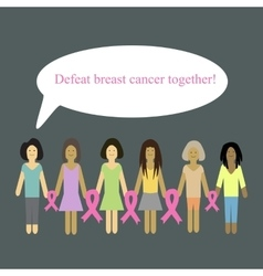 Defeat cancer together vector image vector image