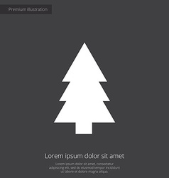 fir-tree premium icon white on dark background vector image vector image