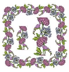 flower frame 4 380 vector image vector image
