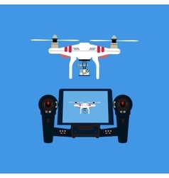 Quadcopter with camera vector image