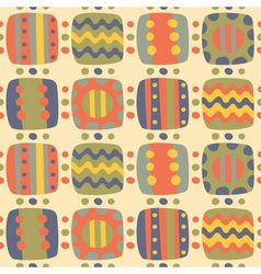 seamless abstract bright patterns of elements vector image