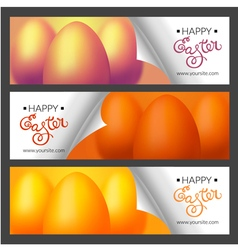 Set with Easter banners for web site vector image