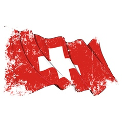 Switzerland Flag Grunge vector image