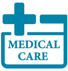 blue medical care icon vector image