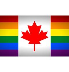 Canada Gay flag vector image vector image