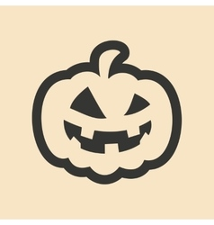 Flat in black and white mobile application pumpkin vector image