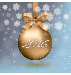 gold christmas ball vector image