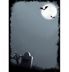 grunge Halloween border vector image vector image