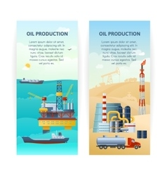 Oil Production Banners Set vector image vector image