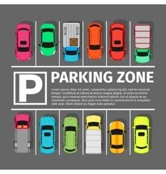 Parking Zone Conceptual Web Banner vector image vector image