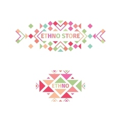 Tribal logo set on white background vector image vector image