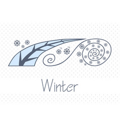 abstract picture with season winter vector image vector image