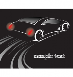 car on black vector image vector image