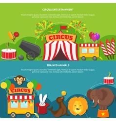 Circus entertainment horizontal banner vector image