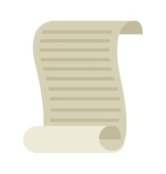Document old paper isolated icon vector