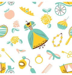 Princess accessory seamless pattern vector image vector image