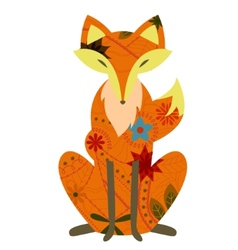 Retro fox vector image vector image