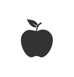 apple icon nutrition eat healthy vector image