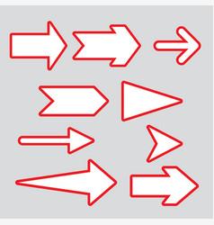 Arrows elegant free style vector