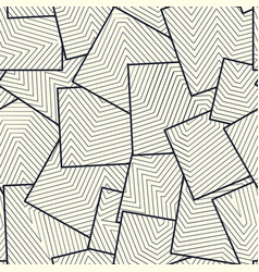 asymmetric squares tiles filled with lines grid vector image