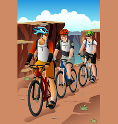 bikers in the mountain vector image