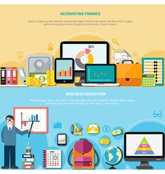 Business education and accounting finance banners vector
