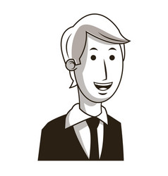 business man manager cartoon character image vector image
