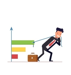 Businessman or manager draws the chart Concept vector