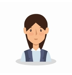 businesswoman avatar elegant icon vector image