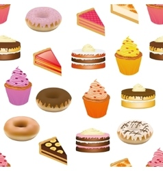 Cakes seamless pattern vector