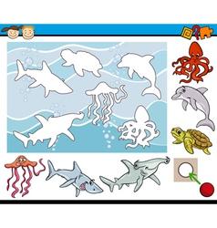 Cartoon game for preschool kids vector