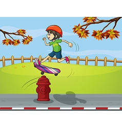 Cartoon Skater boy vector