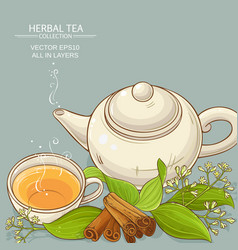 Cinnamon tea vector